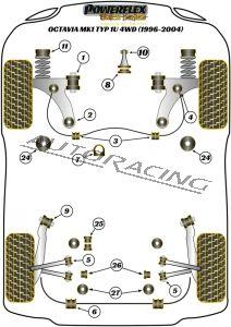 SKODA OCTAVIA MK1 TYP 1U 4WD (1996-2004)   BLACK SERIES