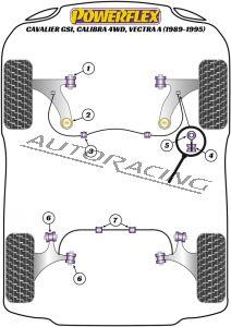 VAUXHALL / OPEL CAVALIER GSI/CALIBRA 4WD, VECTRA A (1989-1995) ROAD SERIES