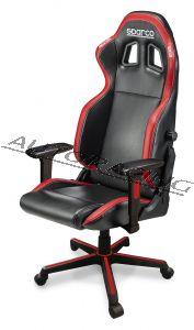 Sparco ICON toimisto/pelituoli musta/punainen