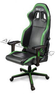 Sparco ICON toimisto/pelituoli musta/vihreä