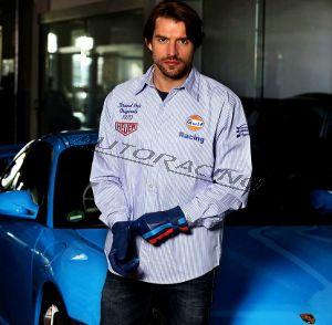Gulf Racing Stripe paita koko M