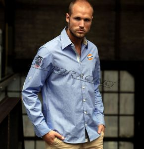 Men Stripe Shirt paita koko XXL