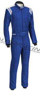Sparco CONQUEST ajopuku sininen / valkoinen koko 60