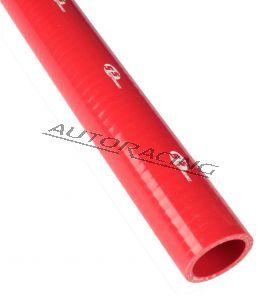 Silikoniletku suora 22mm punainen