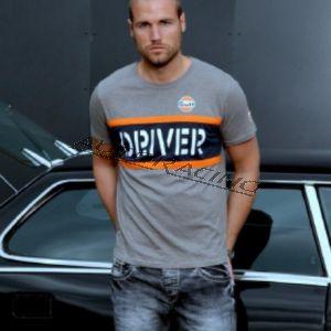 Driver t-paita harmaa koko M