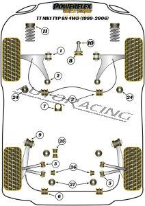 AUDI TT MK1 TYP 8N 4WD (1999-2006) BLACK SERIES